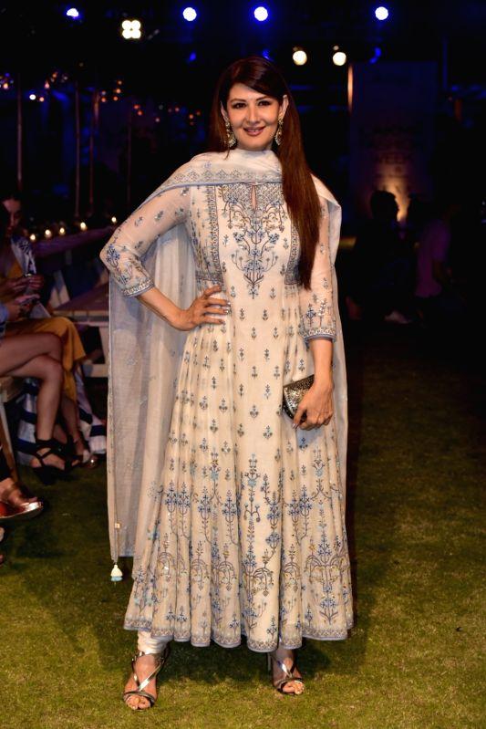 Actress Sangeeta Bijlani during the Lakme Fashion Week Summer/Resort 2018 in Mumbai on Jan 31, 2018. - Sangeeta Bijlani