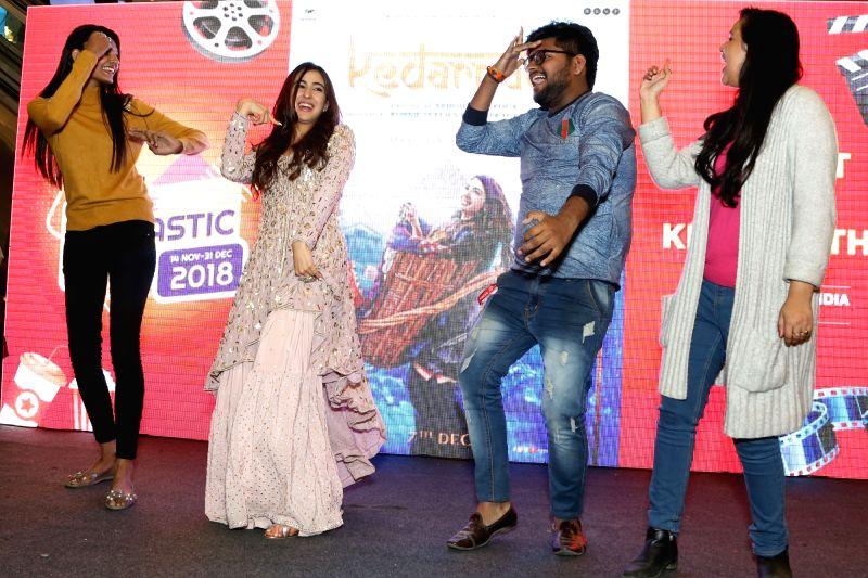 "Actress Sara Ali Khan during the promotion of their upcoming film ""Kedarnath"", at DLF Mall of India in Noida on Dec 6, 2018. - Sara Ali Khan"
