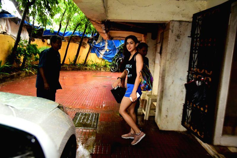 Actress Sara Ali Khan seen at a gym in Bandra, Mumbai on July 16, 2018. - Sara Ali Khan