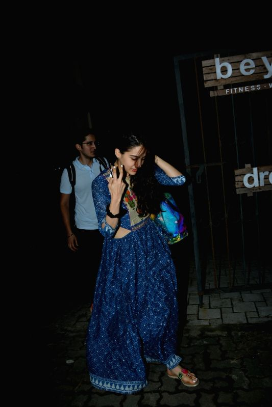 Actress Sara Ali Khan seen at Mumbai's Bandra on July 12, 2018. - Sara Ali Khan