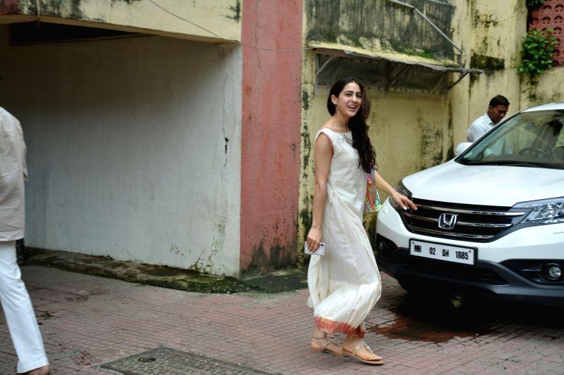 Actress Sara Ali Khan seen at Mumbai's Bandra on July 18, 2018. - Sara Ali Khan