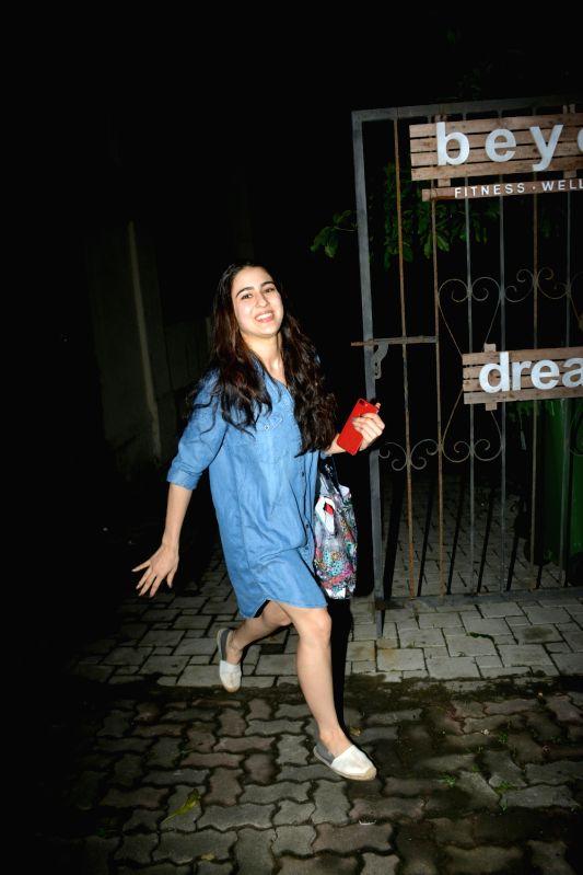 Actress Sara Ali Khan seen at Mumbai's Bandra on Aug 2, 2018. - Sara Ali Khan