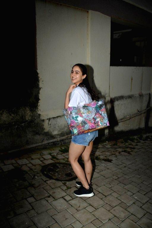 Actress Sara Ali Khan seen at Mumbai's Bandra on Aug 9, 2018. - Sara Ali Khan