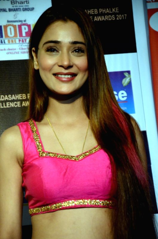 Actress Sara Khan at the Dadasaheb Phalke award function in Mumbai on April 21, 2017. - Sara Khan