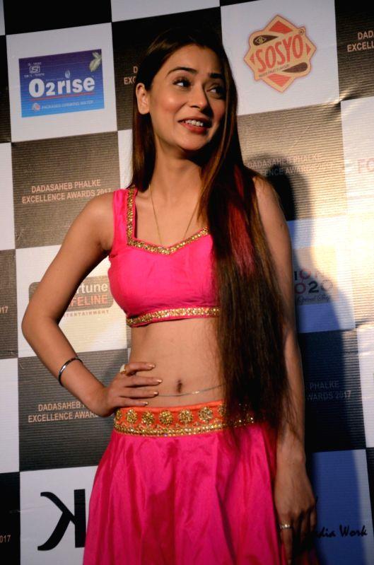 Actress Sara Khan at the Dadasaheb Phalke award function in Mumbai on April 21, 2017. - Sara Khan