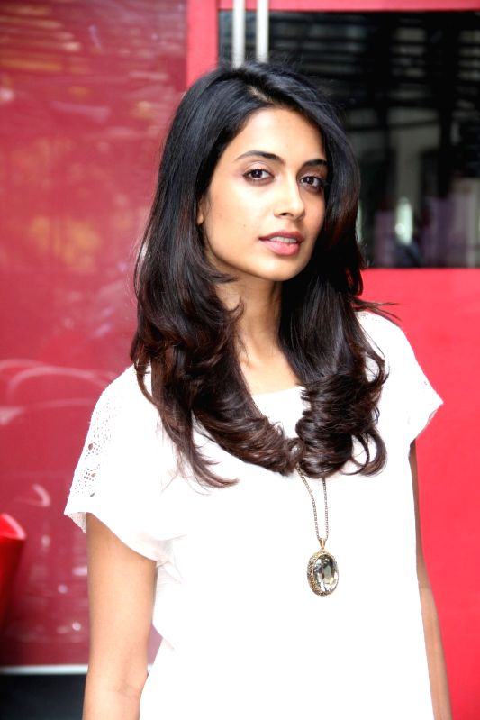 Actress SarahJane Dias spotted outside a restaurant in Mumbai on March 30, 2015.