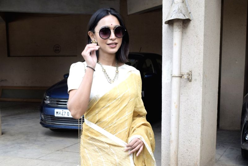 Actress Sayani Gupta during Saraswati Puja at filmmaker Anurag Basu's house in Mumbai on Feb 10, 2019. - Sayani Gupta and Anurag Basu