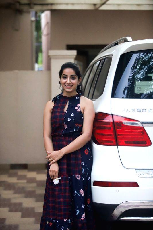 Actress Seba Koshy during his birthday celebrations in Hyderabad. - Seba Koshy