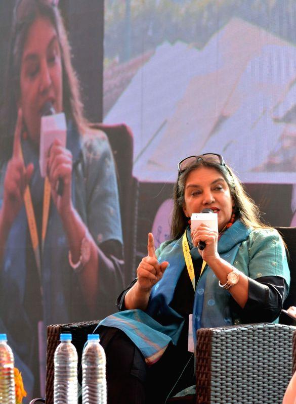 Actress Shabana Azmi addresses at the 8th Tata Steel Kolkata Literary Meet, on Jan 23, 2019. - Shabana Azmi