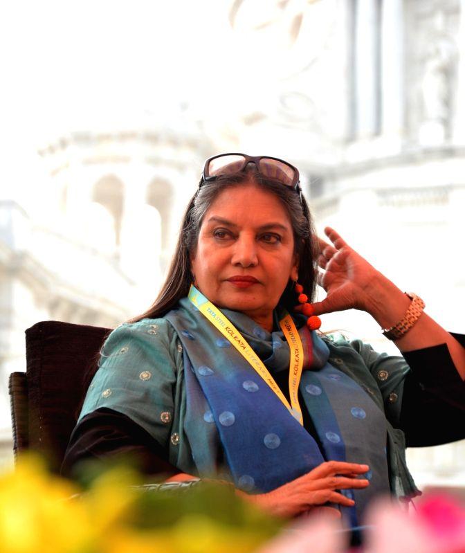 Actress Shabana Azmi at the 8th Tata Steel Kolkata Literary Meet, on Jan 23, 2019. - Shabana Azmi