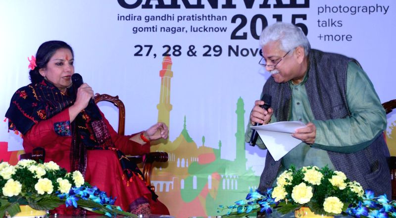 Actress Shabana Azmi during Lucknow Literature Carnival on Nov 28, 2015.