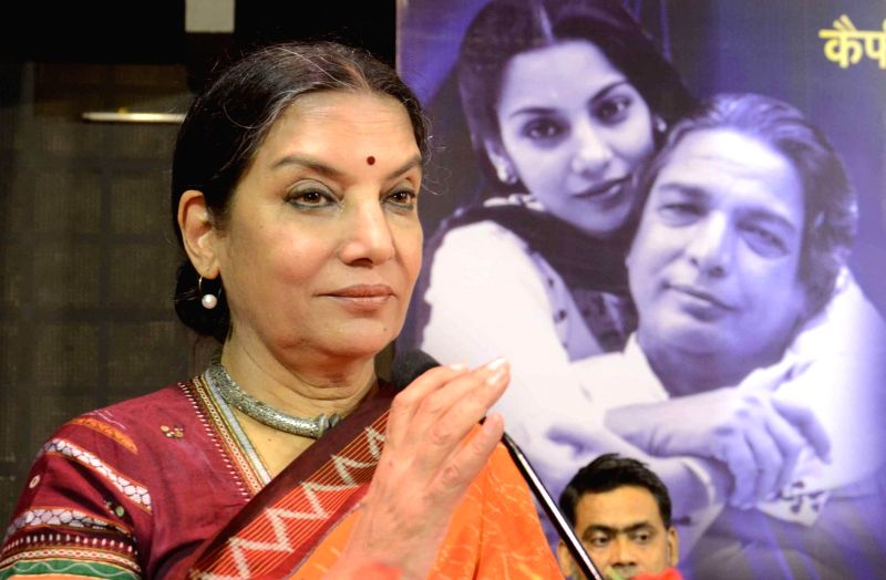 Actress Shabana Azmi. (File Photo: IANS)
