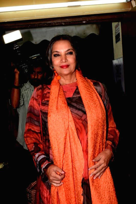 Actress Shabana Azmi seen at a cinema theatre in Juhu, Mumbai on July 13, 2018. - Shabana Azmi