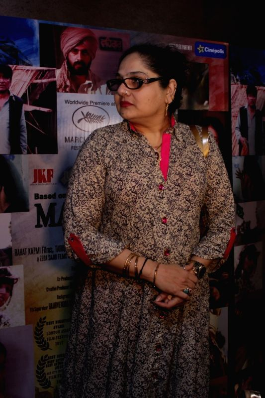Actress Shagufta Ali during the screening of film Mantostaan in Mumbai on April 20, 2017. - Shagufta Ali