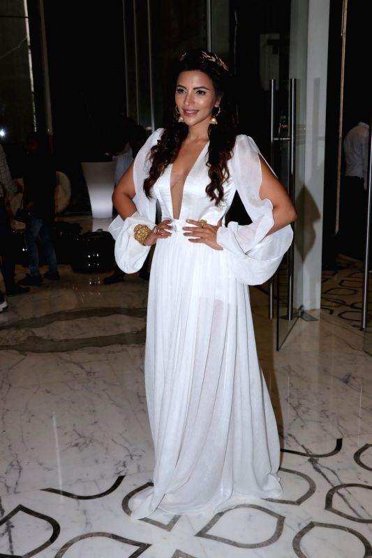 Actress Shama Sikander during her birthday celebration in Mumbai on Aug 4, 2018. - Shama Sikander
