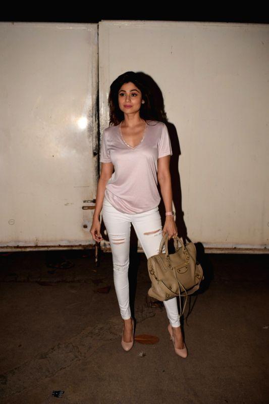 "Actress Shamita Shetty at the screening of web series ""The Test Case"" in Mumbai on Jan 29, 2018. - Shamita Shetty"