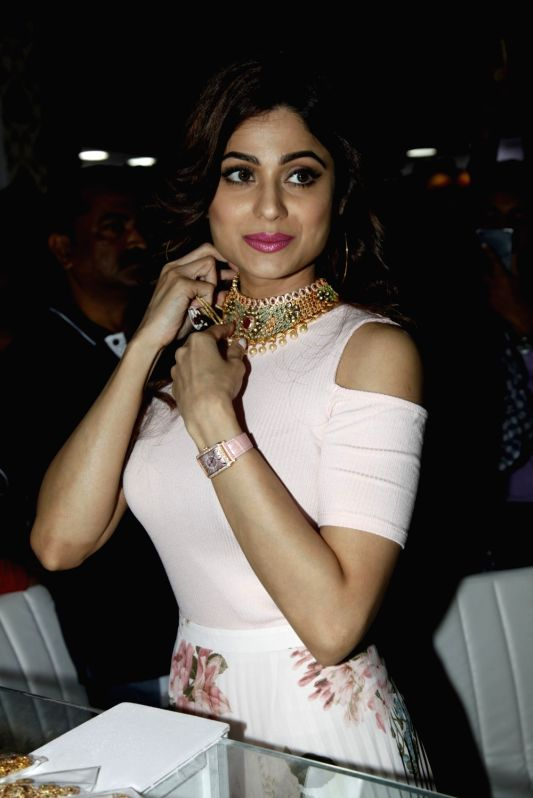 """Actress Shamita Shetty during the inauguration of 11th Edition of """"IIFJAS"""" August 2017 in Mumbai on Aug 11, 2017."""