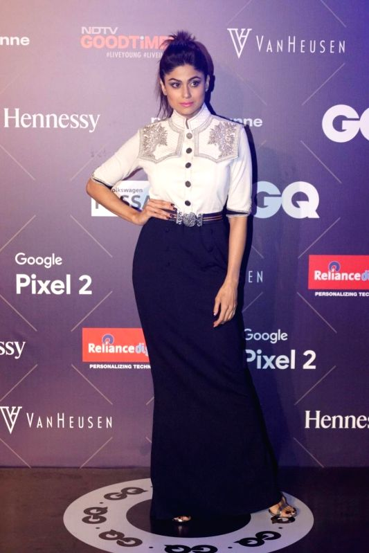 Actress Shamita Shetty during Van Heusen + GQ Fashion Nights 2017 in Mumbai on Nov 11, 2017. - Shamita Shetty