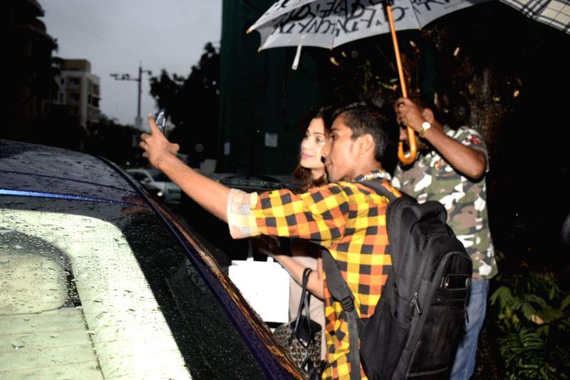 Actress Shamita Shetty seen in Mumbai's Juhu on June 23, 2018. - Shamita Shetty
