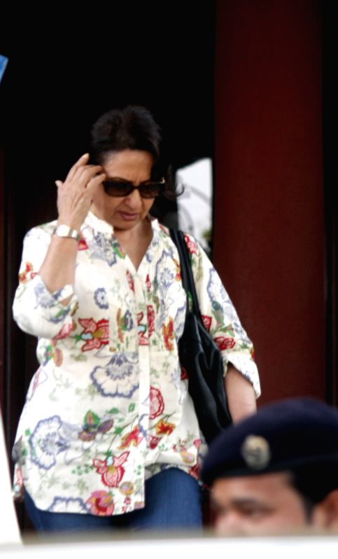Actress Sharmila Tagore arrived in Bhopal on April 26, 2014.