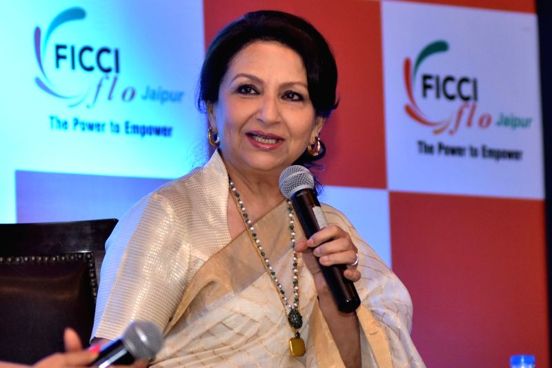 Actress Sharmila Tagore during a FICCI-FLO programme in Jaipur, on May 6, 2016. - Sharmila Tagore