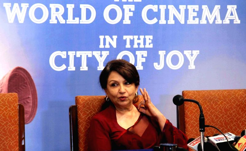 Actress Sharmila Tagore interacts with press during the 21st Kolkata International Film Festival  in Kolkata, on Nov 17, 2015.