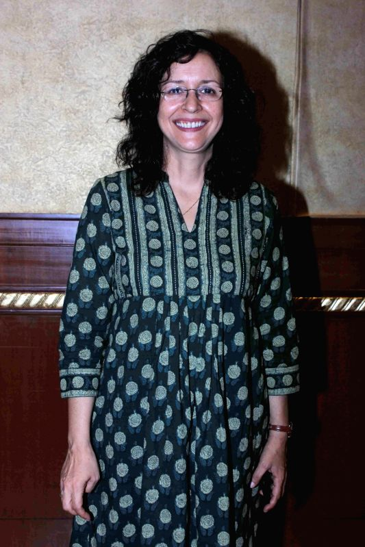Actress Shernaz Patel during a media interaction and screening of short film, Interior Cafe - Night, in Mumbai on July 18, 2016. - Shernaz Patel
