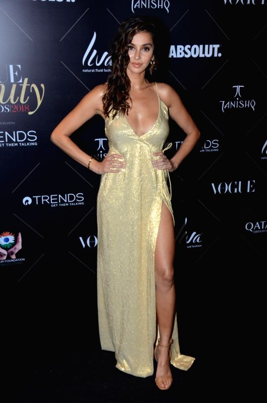 "Actress Shibani Dandekar at the red carpet of ""Vogue Beauty Awards"" in Mumbai on July 31, 2018. - Shibani Dandekar"