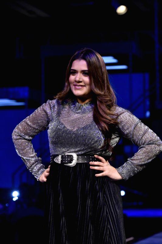 Actress Shikha Talsania walks the ramp for fashion brand Vero Moda at AW'18 collection in Mumbai on Aug 8, 2018. - Shikha Talsania