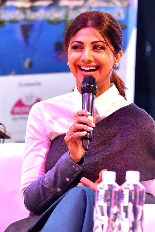 Actress Shilpa Shetty during a programme in New Delhi on Nov 19,2017. - Shilpa Shetty