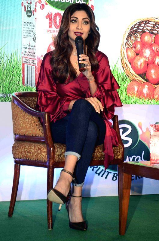 Actress Shilpa Shetty during the launch of ITC's B Natural juice in Mumbai on April 10, 2017. - Shilpa Shetty