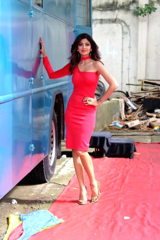 Actress Shilpa Shetty during the photo shoot of upcoming Sony TV dance reality show Super Dancer in Mumbai, on August 9, 2016. - Shilpa Shetty