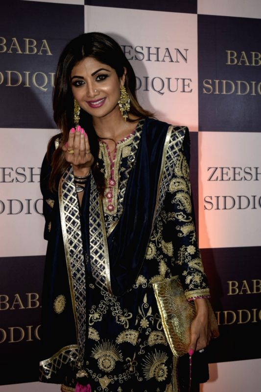 Actress Shilpa Shetty Kundra at politician Baba Siddique's iftar party in Mumbai on June 10, 2018. - Shilpa Shetty Kundra