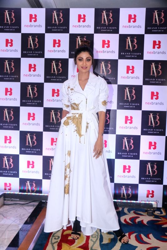 Actress Shilpa Shetty Kundra at the Brand Vision Summit and Awards in Mumbai on Jan 30, 2018. - Shilpa Shetty Kundra