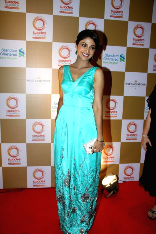 Actress Shilpa Shetty Kundra during the launch of Van Heusen Spring Summer 2014 limited edition collection in Mumbai, on April 10, 2014. - Shilpa Shetty Kundra