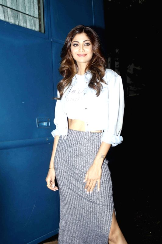 Actress Shilpa Shetty spotted at Mehboob Studio, in Mumbai, on July 29, 2016. - Shilpa Shetty