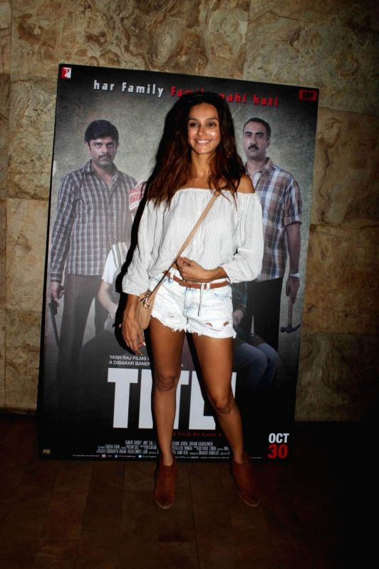 Actress Shivani Dandekar during a special screening of film Titli in Mumbai, on Oct 28, 2015. - Shivani Dandekar