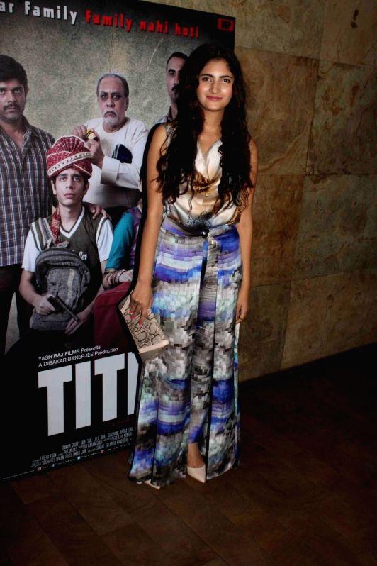 Actress Shivani Raghuvanshi during a special screening of film Titli in Mumbai, on Oct 28, 2015. - Shivani Raghuvanshi