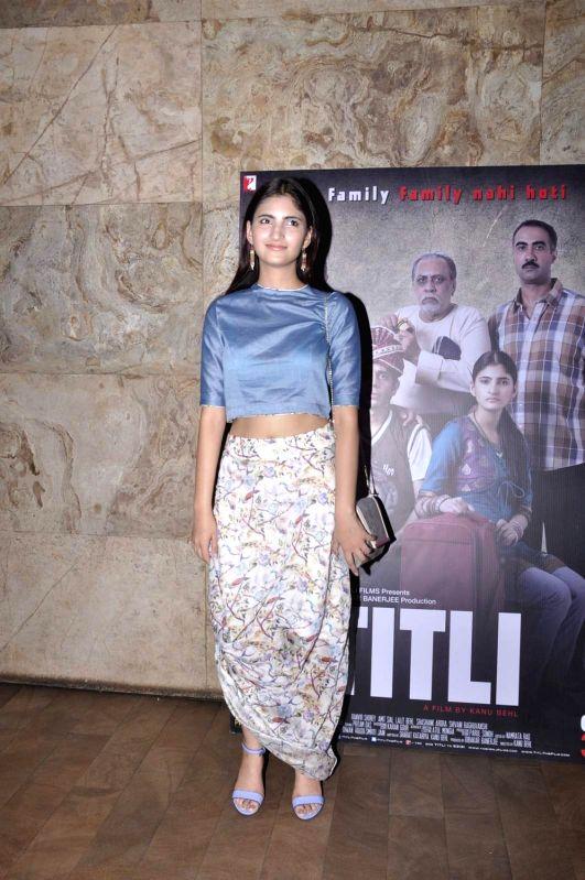 Actress Shivani Raghuvanshi during the screening of film Titli, in Mumbai, on Oct 27, 2015. - Shivani Raghuvanshi