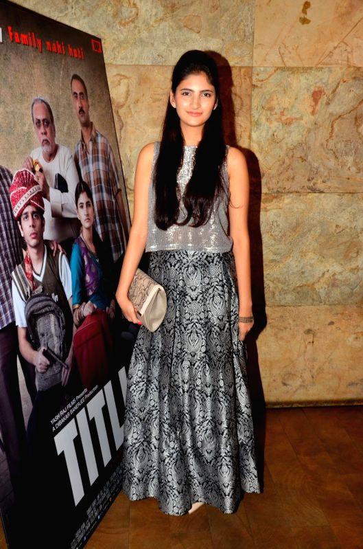 Actress Shivani Raghuvanshi during the screening of film Titly in Mumbai on Oct 29, 2015. - Shivani Raghuvanshi