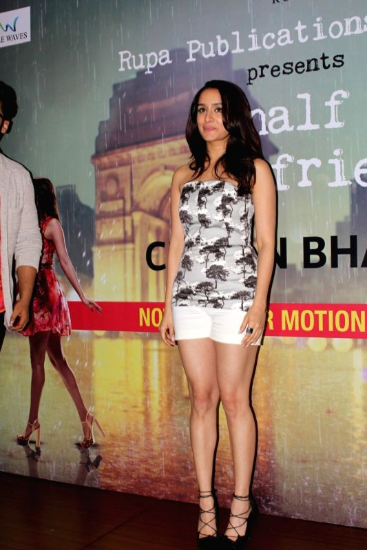 "Actress Shraddha Kapoor at the launch of Chetan Bhagat's book ""Half Girlfriend""  in Mumbai on May 8, 2017. - Shraddha Kapoor"