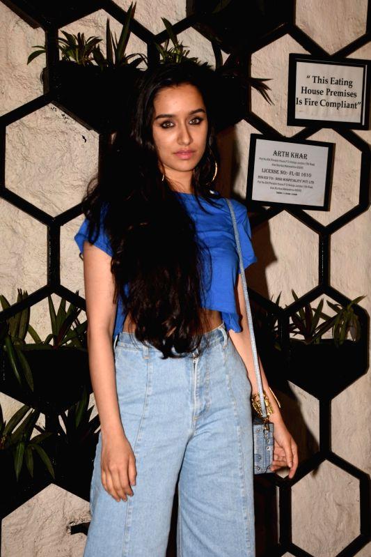 Actress Shraddha Kapoor at the producer Dinesh Vijan birthday celebration in Mumbai on July 26, 2018. - Shraddha Kapoor