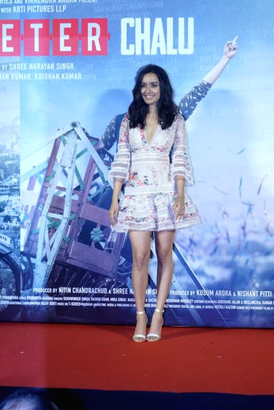 "Actress Shraddha Kapoor at the trailer launch of her upcoming film ""Batti Gul Meter Chalu"" in Mumbai on Aug 10, 2018. - Shraddha Kapoor"