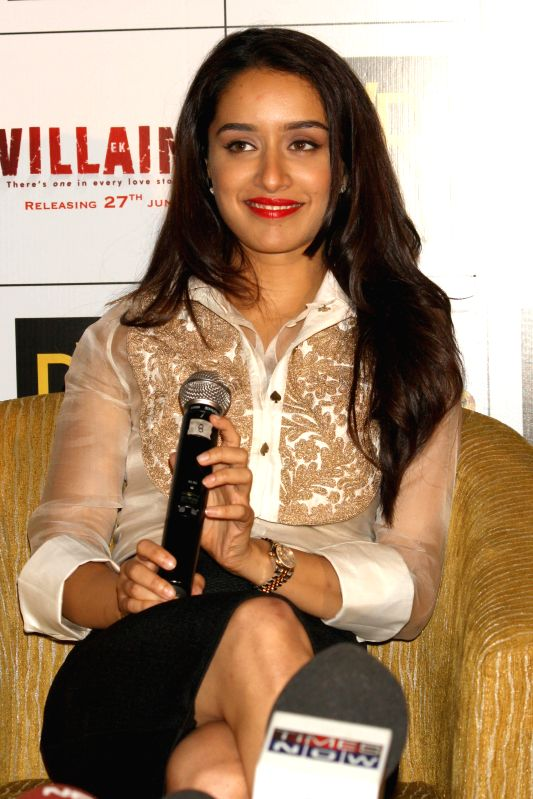 Actress Shraddha Kapoor during a press conference to promote her upcoming film 'Ek Villain' in New Delhi on June 19, 2014. - Shraddha Kapoor