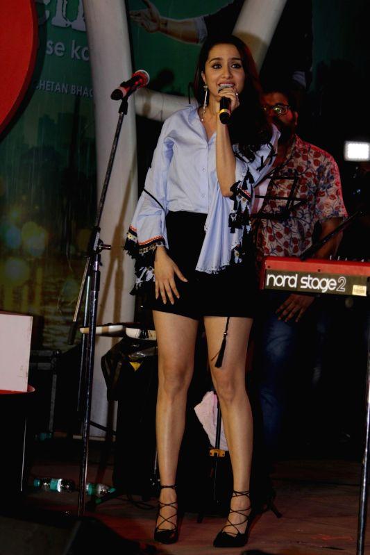 Actress Shraddha Kapoor during the music concert of film Half Girlfriend in Mumbai on May 4, 2017. - Shraddha Kapoor