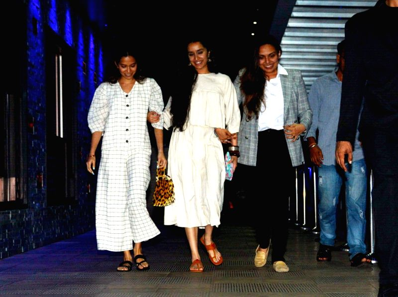 Actress Shraddha Kapoor seen at a restaurant in Mumbai on Aug 7, 2018. - Shraddha Kapoor