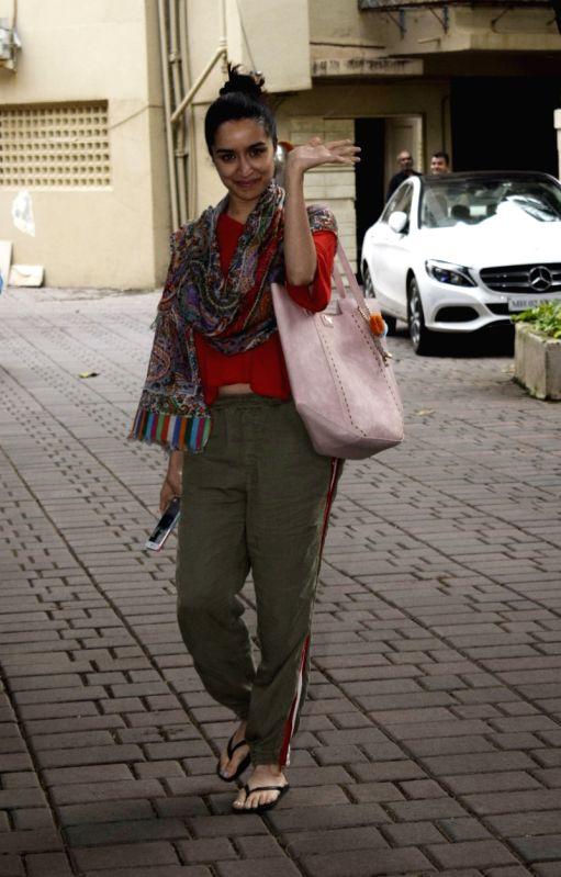 Actress Shraddha Kapoor seen at Juhu, in Mumbai on Aug 11, 2018. - Shraddha Kapoor