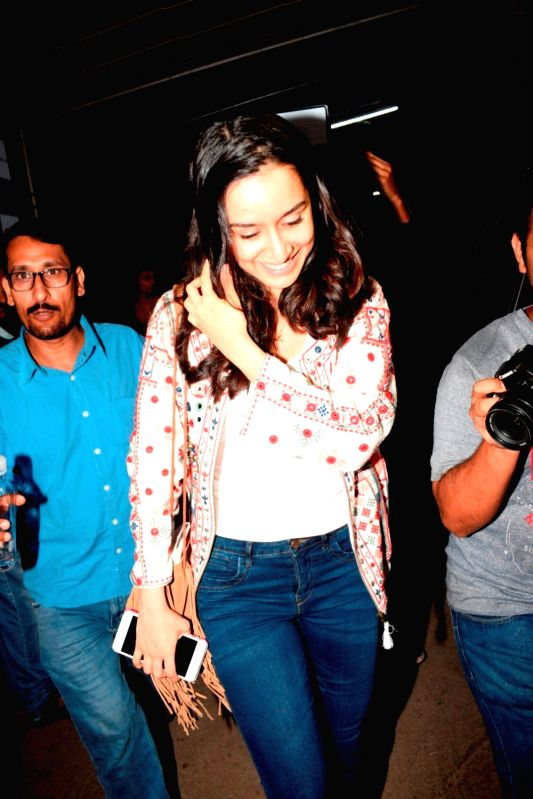 Actress Shraddha Kapoor seen at Sunny Super Sound studio in Mumbai on Aug 2, 2018. - Shraddha Kapoor