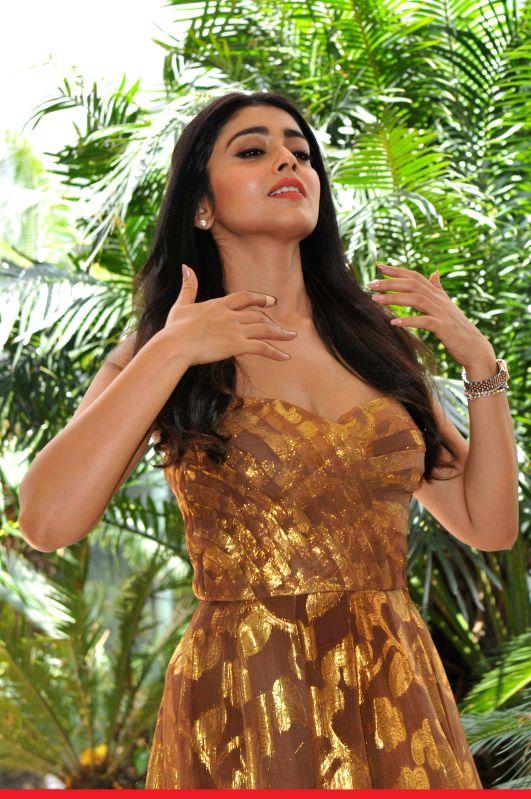 Actress Shriya Saran during a photo shoot organised to promote her upcoming film `Drishyam`  in New Delhi, on July 28, 2015. - Shriya Saran