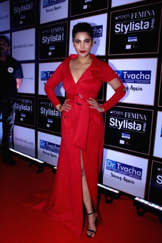Actress Shruti Haasan during Ponds BB+ Femina Stylista West programme in Mumbai on Sept 29, 2017. - Shruti Haasan